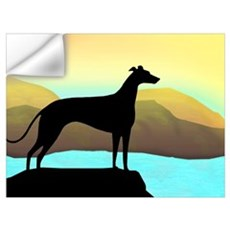 greyhound by the sea Wall Decal