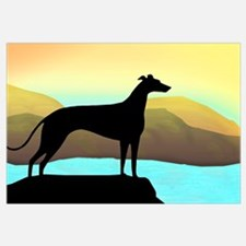 greyhound by the sea
