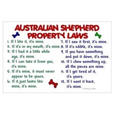 Australian Shepherd Property Laws 2 P Poster