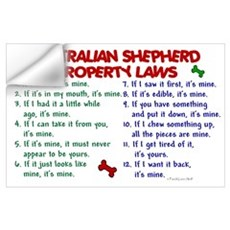 Australian Shepherd Property Laws 2 P Wall Decal