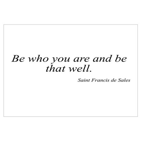 Saint Francis de Sales quote Wall Decal