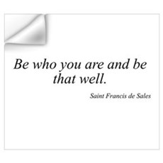 Saint Francis de Sales quote Wall Decal