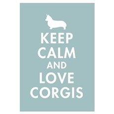 Keep Calm and Love Corgis Canvas Art