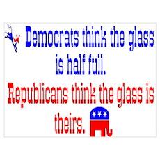 Democrats Vs. Republicans Poster