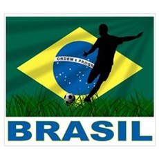 Brazilian World cup soccer Poster