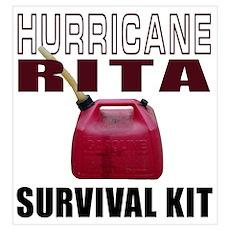Hurricane Rita Survival Kit Poster