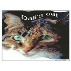 Dali's Cat Poster