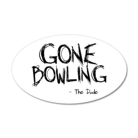 'Gone Bowling' 38.5 x 24.5 Oval Wall Peel