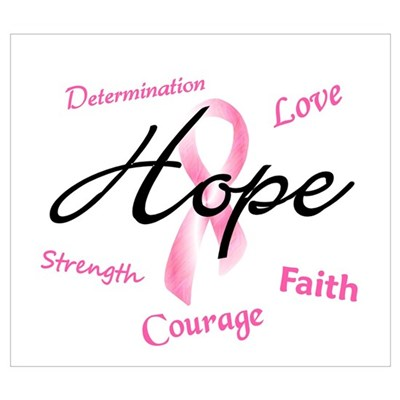 Courage Faith Love Hope 5 (Pink) Framed Print