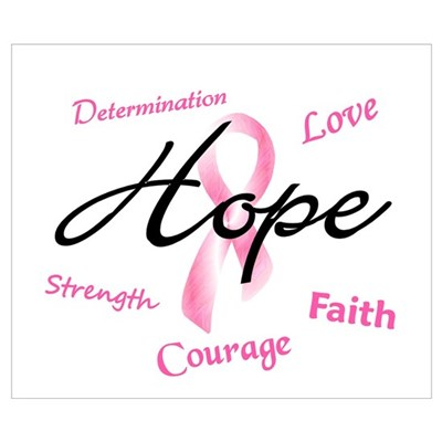 Courage Faith Love Hope 5 (Pink) Poster