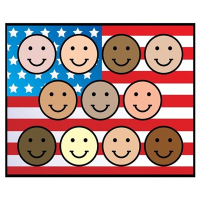America People of Many Colors Poster