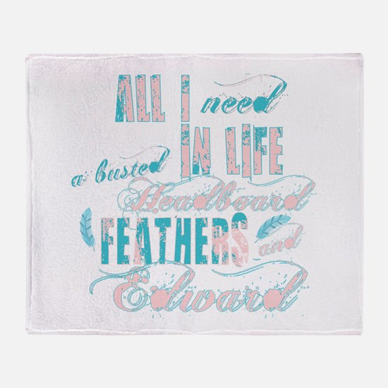 Headboard feathers & Edward Throw Blanket