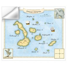 Galapagos Archipelago Map Wall Decal