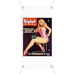 Titter Hot Beauty Queen Girl Banner