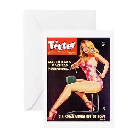 Titter Hot Beauty Queen Girl Greeting Card