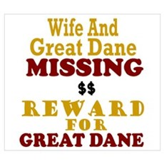 Wife & Great Dane Missing Poster