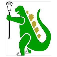 Lacrosse Laxasaurus 1 Poster