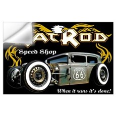Rat Rod Speed Shop 66 Wall Decal