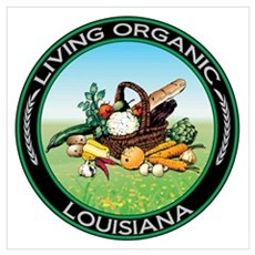 Living Organic Louisiana Poster