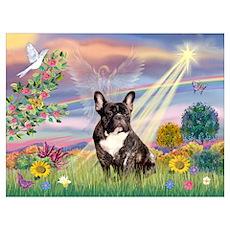 Cloud Angel / Fr Bulldog (brin) Poster