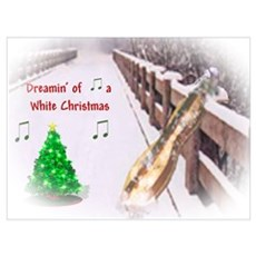 Dulcimers and White Christmas Poster