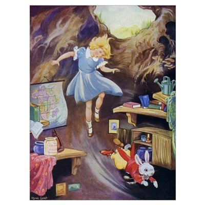 ALICE DOWN THE RABBIT HOLE Poster