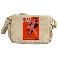 Wink Red Hot Brunette Girl Messenger Bag