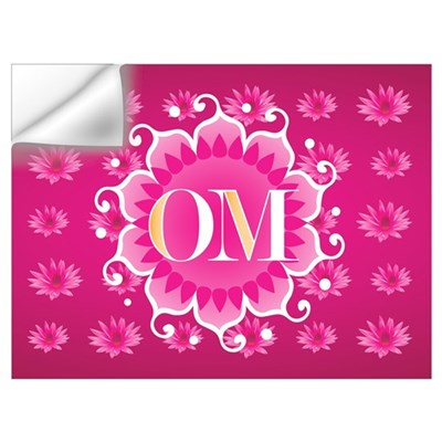 Lotus OM Pink Wall Decal