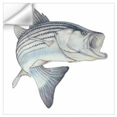 Lunker's Stripe Bass Wall Decal