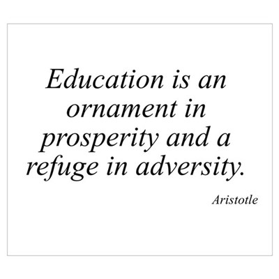 Aristotle quote 22 Poster