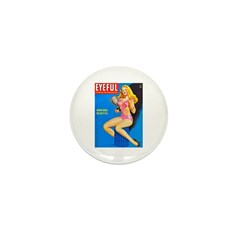 Eyeful Blonde Beauty Girl Cover Mini Button (100 p