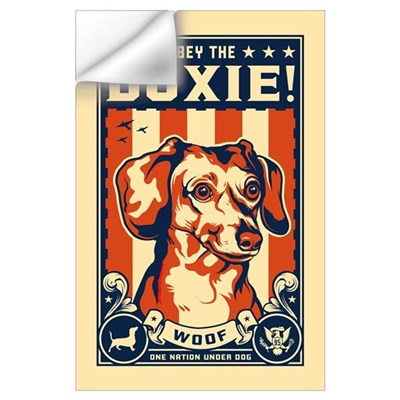Obey the Doxie! USA Wall Decal