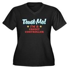 Trust me Credit Controller Women's Plus Size V-Nec