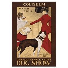 CHICAGO DOG SHOW 11x17 Framed Print