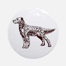 English / Irish Setter Ornament (Round)
