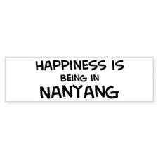 Happiness is Nanyang Bumper Bumper Sticker