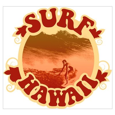 Surf Hawaii Framed Print