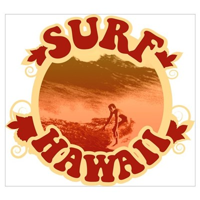 Surf Hawaii Poster