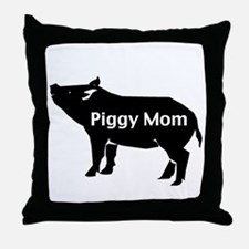 Piggy Mom Throw Pillow