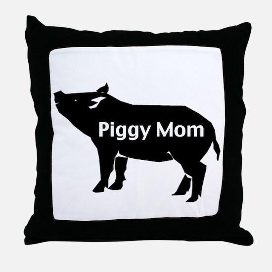 Piggy Mom Throw Pillow