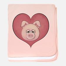 Pig Heart baby blanket