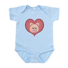 Pig Heart Infant Bodysuit