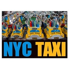 NYC Taxi Globes Fine Print Poster