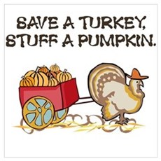 Save a Turkey Poster