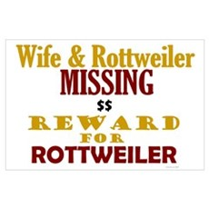 Wife & Rottweiler Missing Poster