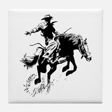 B/W Bronco Tile Coaster