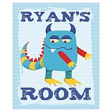 Ryan's ROOM Mallow Monster Poster