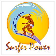 Surfer Power Poster