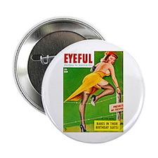 """Eyeful Yellow Dress Beauty Girl 2.25"""" Button (10 p"""