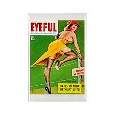 Eyeful Yellow Dress Beauty Girl Rectangle Magnet